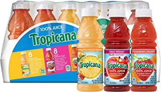 product image for Tropicana 100% Juice 3-Flavor Fruit Blend Variety Pack, 10 Fl Oz, Bottles, (Pack of 24)