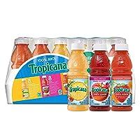 Tropicana 100% Juice 3-Flavor Fruit Blend Variety Pack, 10 Fl Oz, Bottles, (Pack...