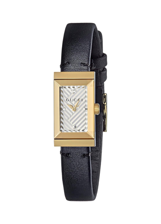 527e1884de1 Amazon.com  Gucci Women s Stainless Steel Swiss-Quartz Watch with Leather  Calfskin Strap