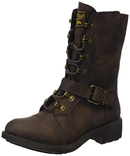 Tallie, Bottes Motardes Femme, Marron (Brown Brown), 36 EURocket Dog