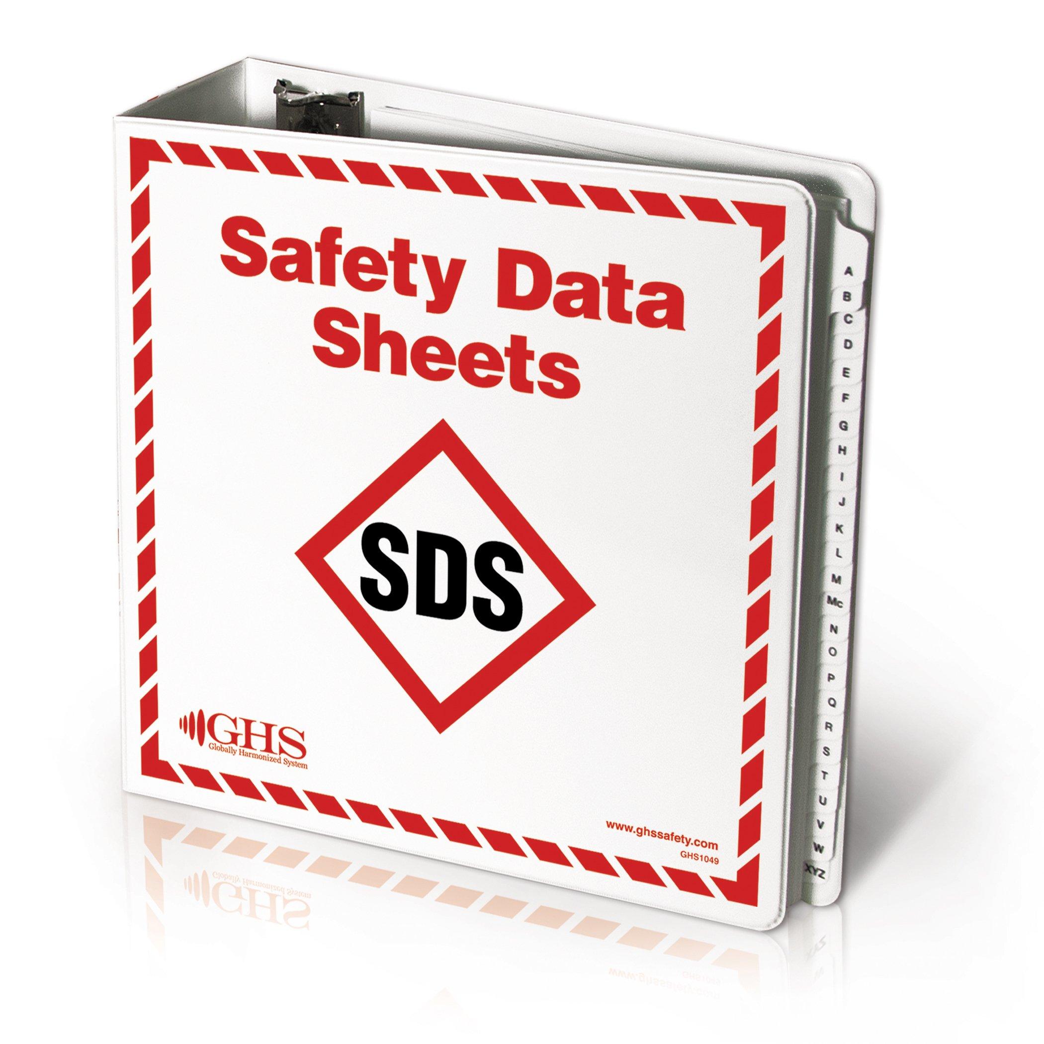 GHS/HazCom 2012: Large SDS Binder with A-Z Divider