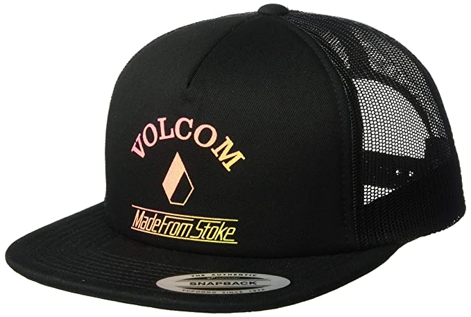 cf3d80619b5ede Volcom Junior's Women's Stoke Made Adjustable Trucker Hat, Black, ...