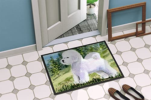 Caroline s Treasures SS8900MAT Bichon Frise Indoor Outdoor Mat 18×27 Doormat, 18H X 27W, Multicolor