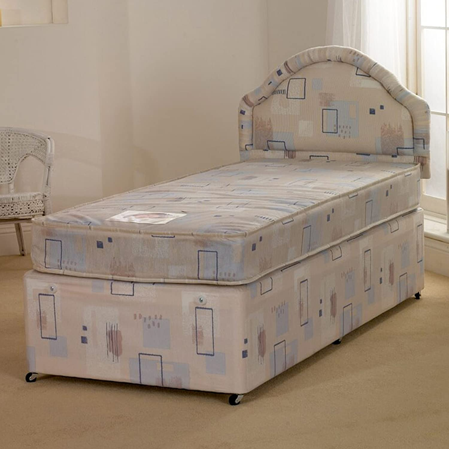Deluxe Beds Ltd Superb Value 3ft Single Albi Divan Bed With Mattress - No Headboard - No Drawers