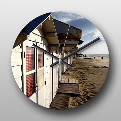 Reloj de pared diseño de casetas de playa No. 2
