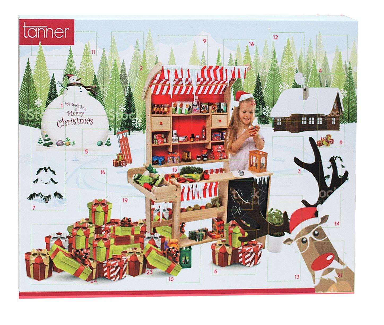 Tanner - 90000 - Calendrier de L'Avent avec Nourriture pour Jouets Produits