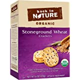 Back To Nature Organic, Non GMO, Stoneground Wheat Crackers, 6 ounce