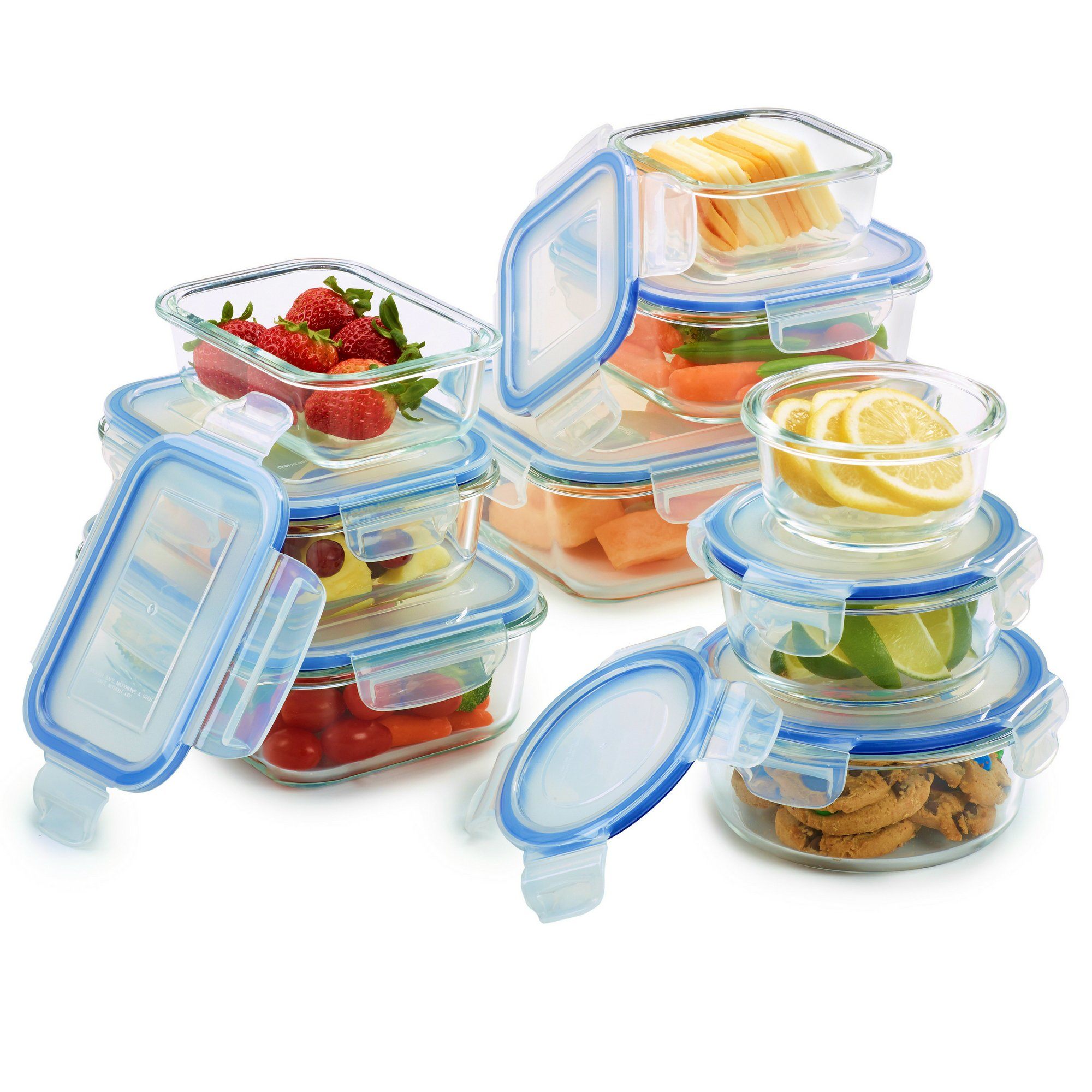 18 Piece Glass Food Storage Container Set - BPA Free - Use for Home, Kitchen and Restaurant - Snap On Lids Keep Food Fresh with Airtight Seal Safe for Dishwasher by 1790 (Image #8)