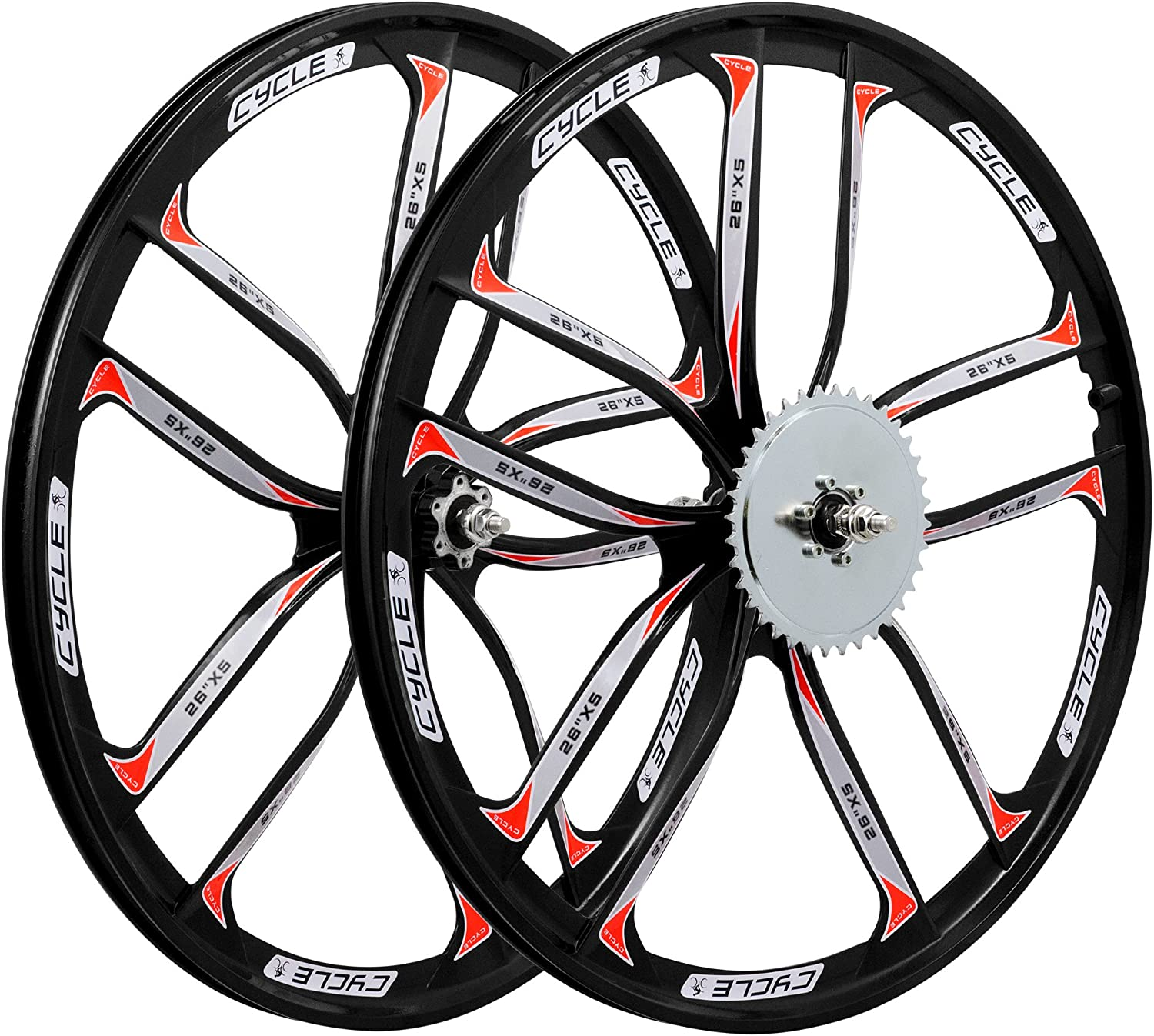 Beach Cruisers BBR Tuning 26 Inch Heavy Duty Front Mag Wheel for Mountain Bikes