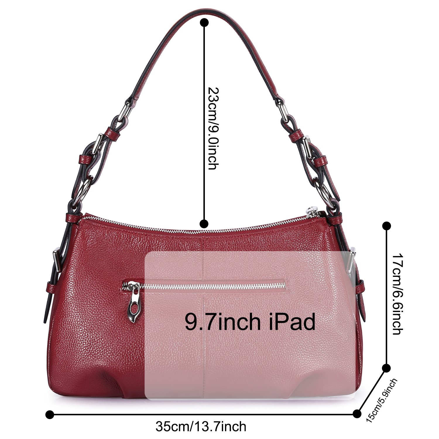 2bc5d9863f Valentine s Day Gifts S-ZONE Womens Hobo Genuine Leather Shoulder Bag Top-handle  Handbag Ladies Purses  Amazon.in  Shoes   Handbags