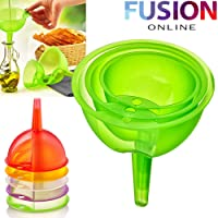 PLASTIC FUNNEL SETHOUSEHOLD KITCHEN COOKING ACCESSORY GARAGE TOOL OIL LIQUID