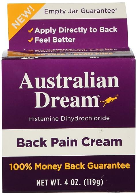 Australian Dream Back Pain Cream, 4 Ounce