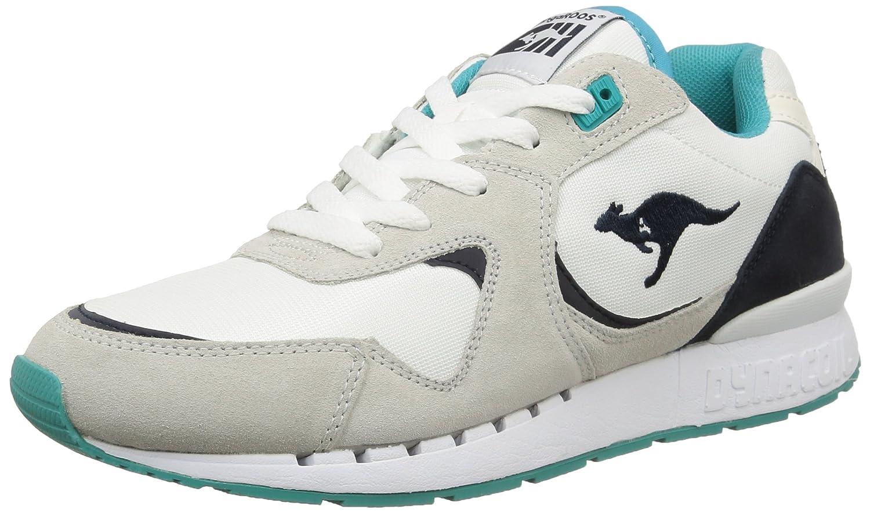 Kangaroos Coil R2 - Zapatillas de Deporte de Otras Pieles Hombre 40 EU|Multicolor - Mehrfarbig (White/Smaragd 083)