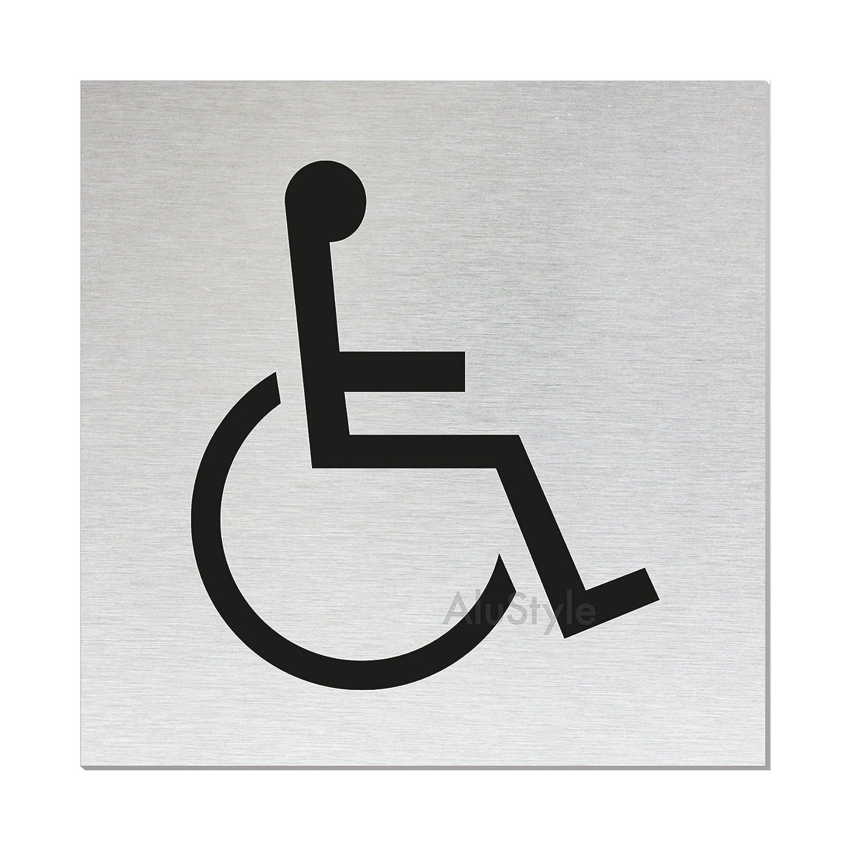 Ofform aluminio Style WC Cartel | - Letrero para puerta de ...