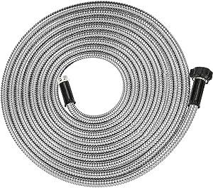 Yanwoo 304 Stainless Steel 20 Feet Garden Hose, Lightweight, Kink-Free, Heavy Duty Outdoor Hose (20ft)