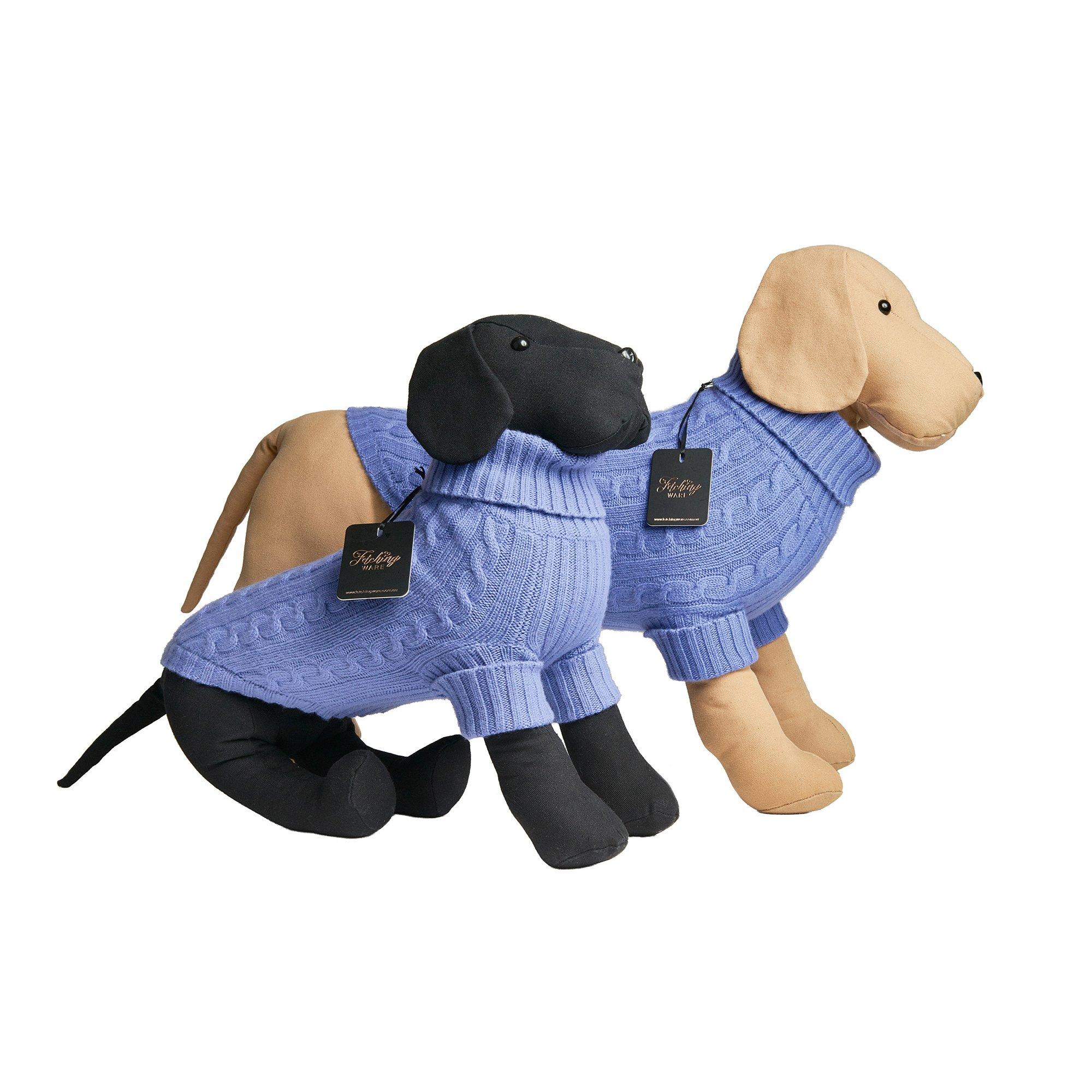 100% Blue Merino Wool Dog Sweater / Turtleneck (Small)