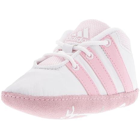 adidas Babyschuhe Liladi Crib weiß rosa, Größe:19