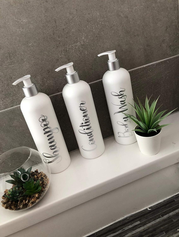 Mrs Hinch Bathroom Personalised Shampoo Pump Bottles CUSTOM TEXT Custom 500ml