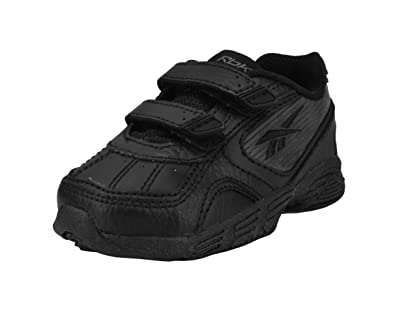 1afe7783a960 Reebok Infant toddlers Snap Trainer Kc Wide Black Sneakers (4.5)