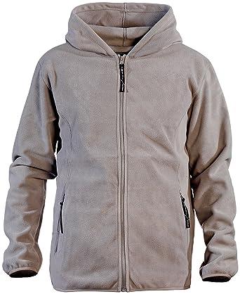 PEARL outdoor Fleecejacke für Winter: Fleece Jacke mit Kapuze für Herren, Größe M, grau (Jacke aus Fleece für Mann)