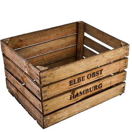 Caja de Madera para Frutas o Vino, Medidas: 30 x 50 x 40 cm