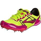 Brooks Womens PR MD 54.26 Track Spikes Pink GlowNightlife Anthracite 6.5 M D Pink GlowNightlife Anthracite