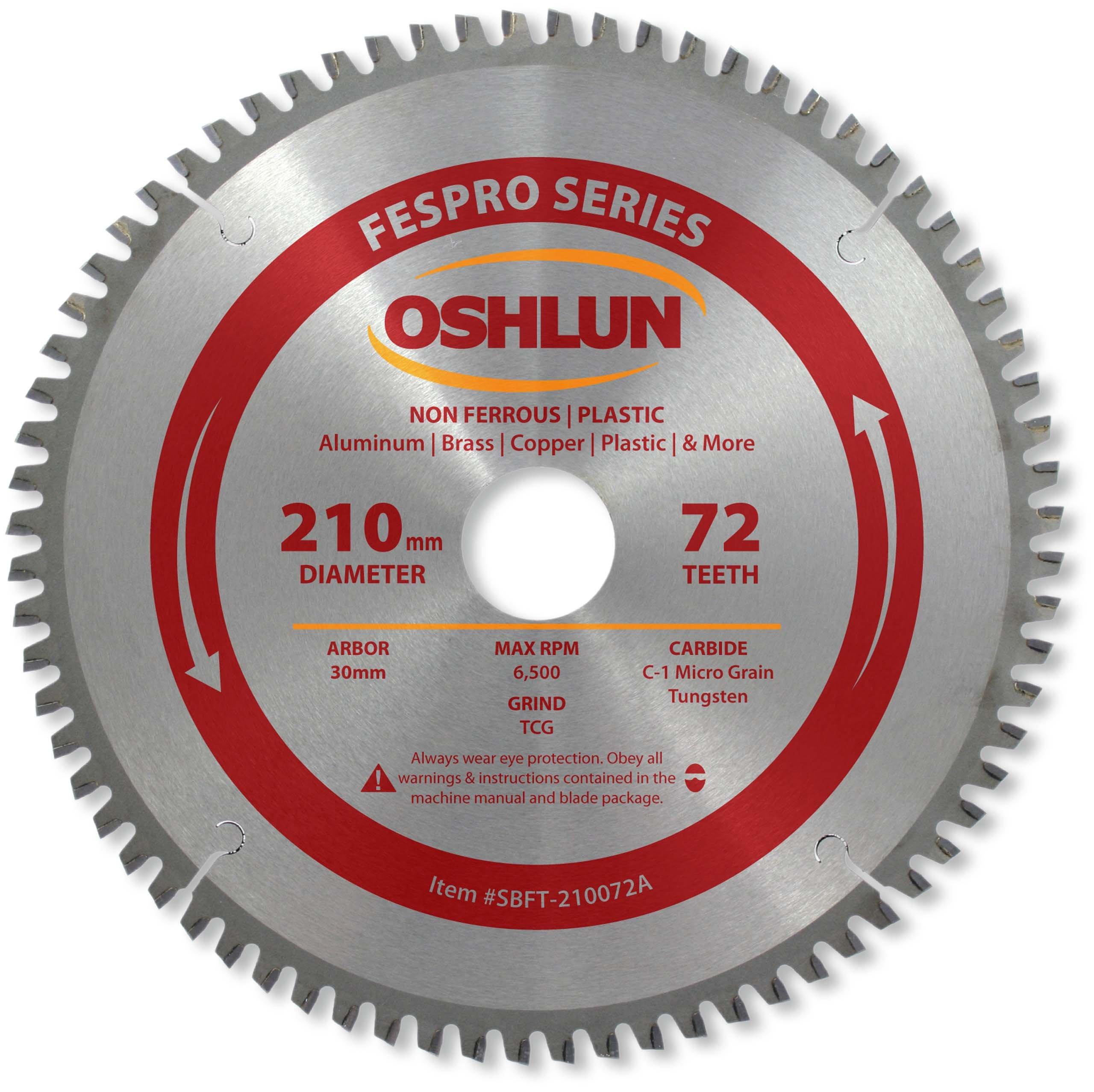 Disco Sierra OSHLUN SBFT 210072A 210mm 72T FesPro TCG no f