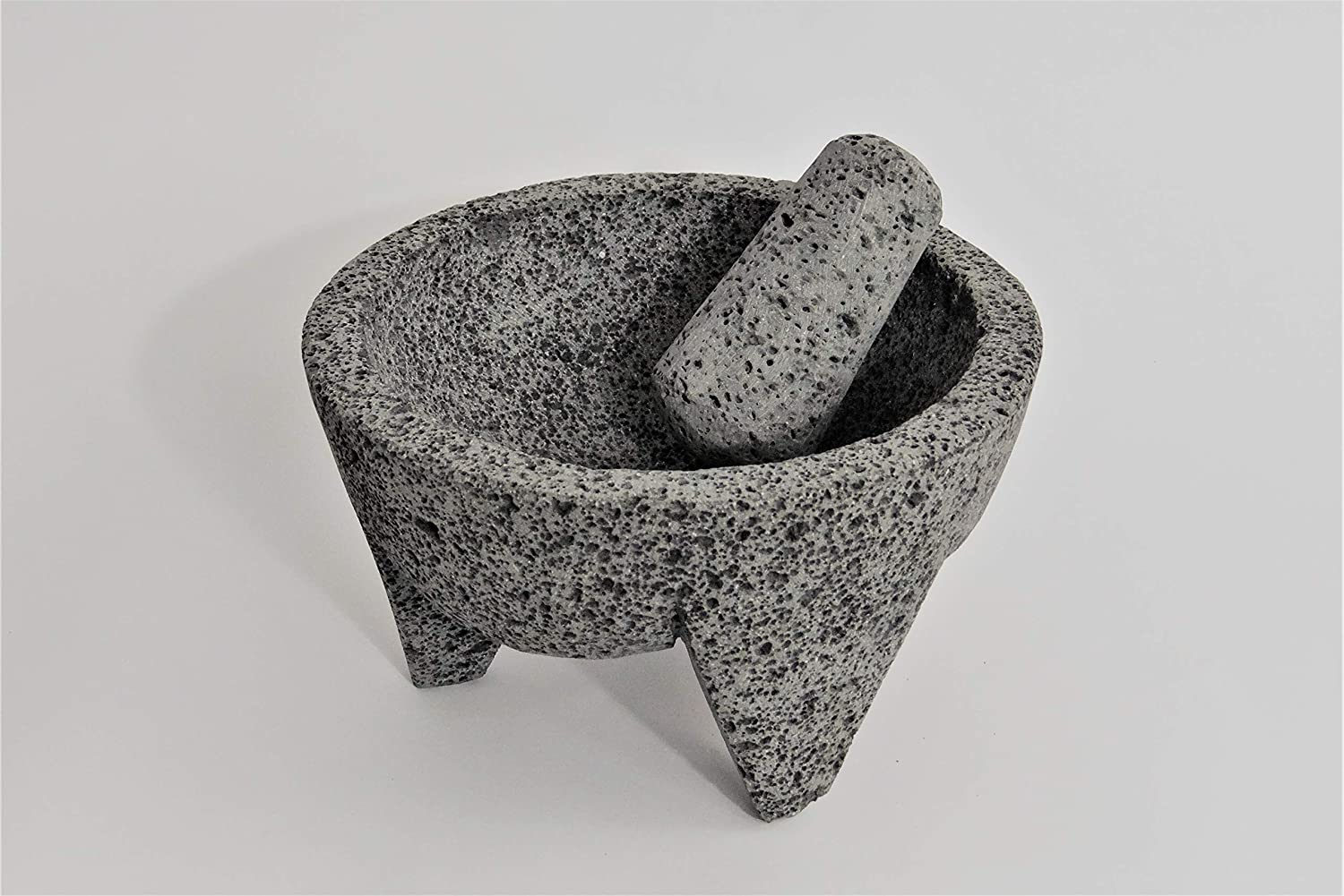 Molcajete Authentic Handmade Mexican Mortar and Pestle 8 by CUBIXAR