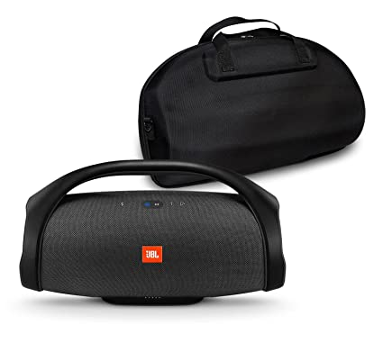 JBL Boombox Portable Bluetooth Waterproof Speaker Bundle with Hardshell  Storage Case - Black