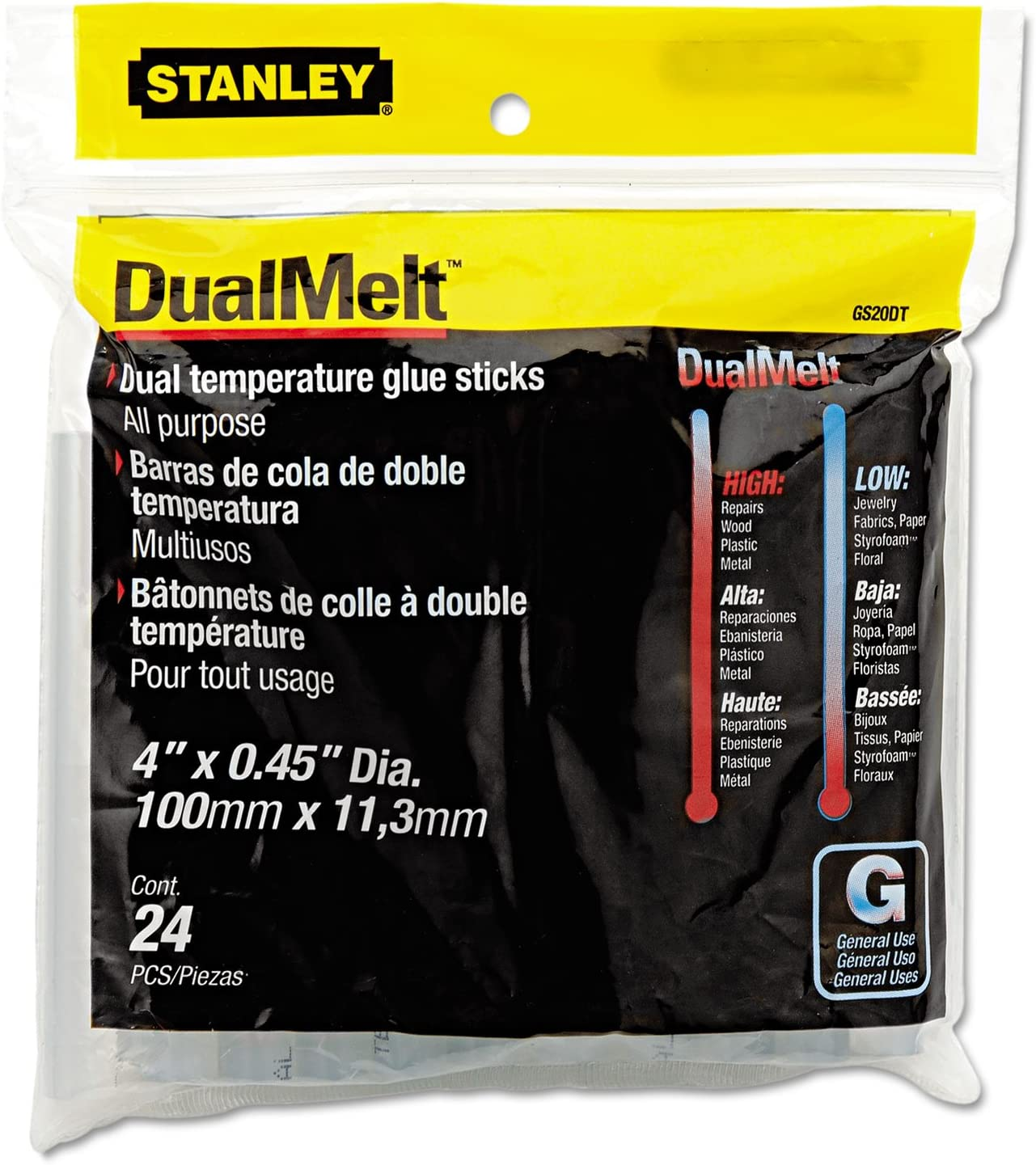 Stanley GS20DT Glue Sticks 24 Pieces
