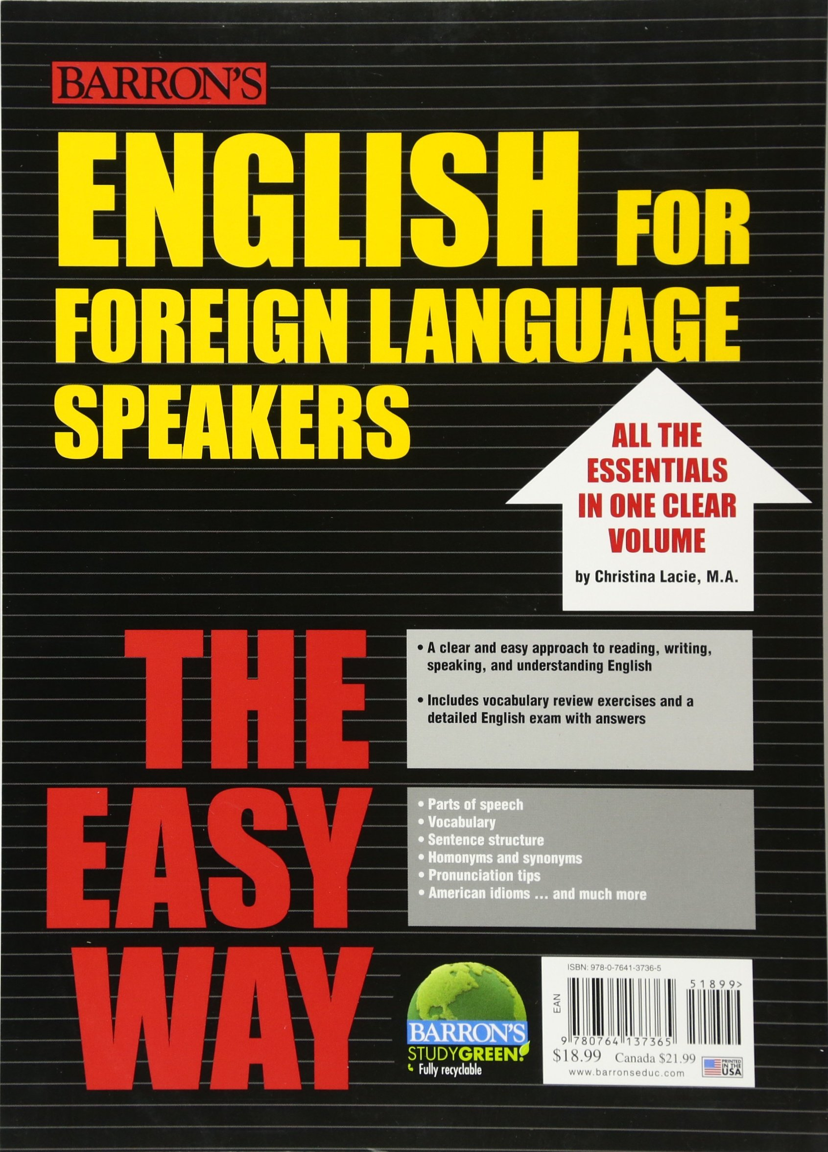 English for Foreign Language Speakers the Easy Way (Barron's