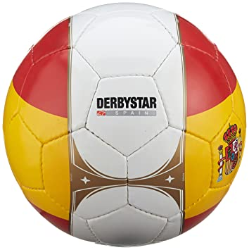 Derbystar Uni España Países Balón, Color Blanco/Rojo/Amarillo, 5 ...