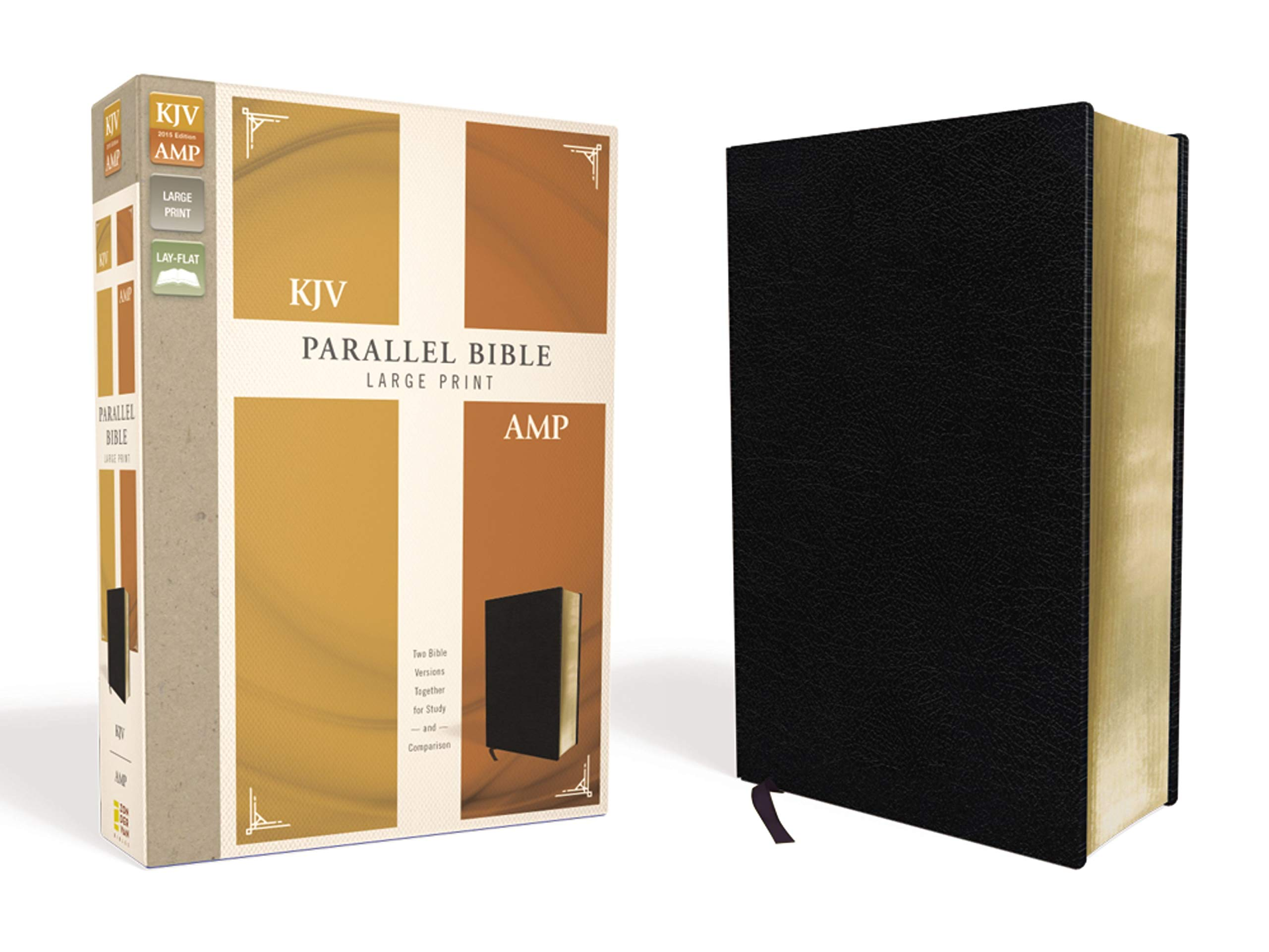 KJV, Amplified, Parallel Bible, Large Print, Bonded Leather, Black, Red Letter Edition: Two Bible Versions Together for Study and Comparison pdf