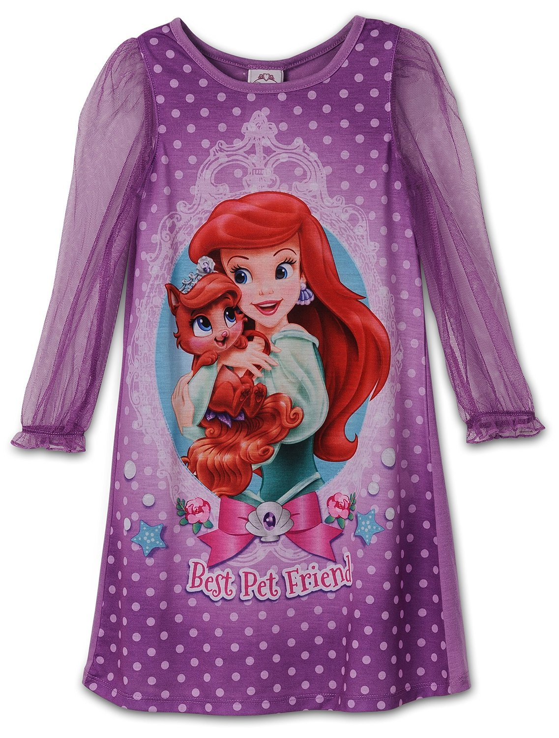 Disney Little Girls Princess Palace Pets Toddler Gown, Nighty sizes 2T-4T Nightgown Sizes 2T-4T - - Komar Brands