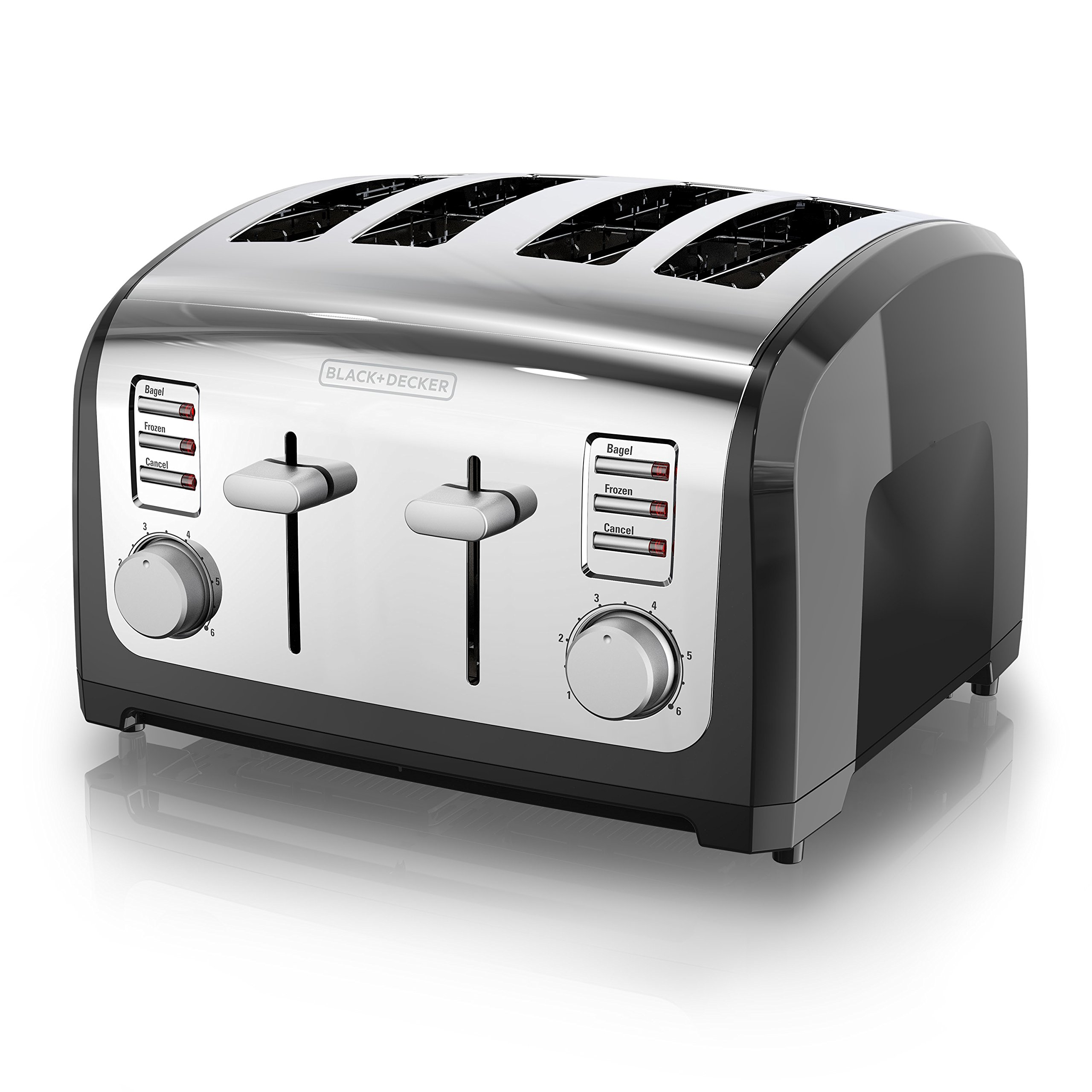 BLACK+DECKER 4-Slice Toaster, Stainless Steel, T4030 by BLACK+DECKER
