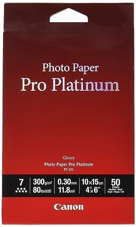 Canon consumible Papel fotográfico Pro Platinum PT-101 10x15 cm 50 Hojas