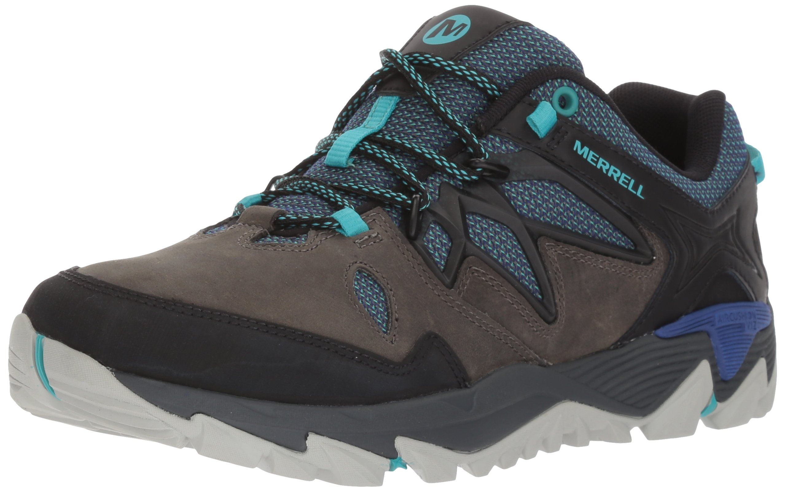 Merrell Women's All Out Blaze 2 Hiking Shoe, Pewter/Mazarine Blue, 6 M US by Merrell