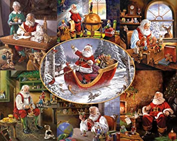 amazoncom white mountain puzzles merry christmas to all 1000 piece jigsaw puzzle toys games