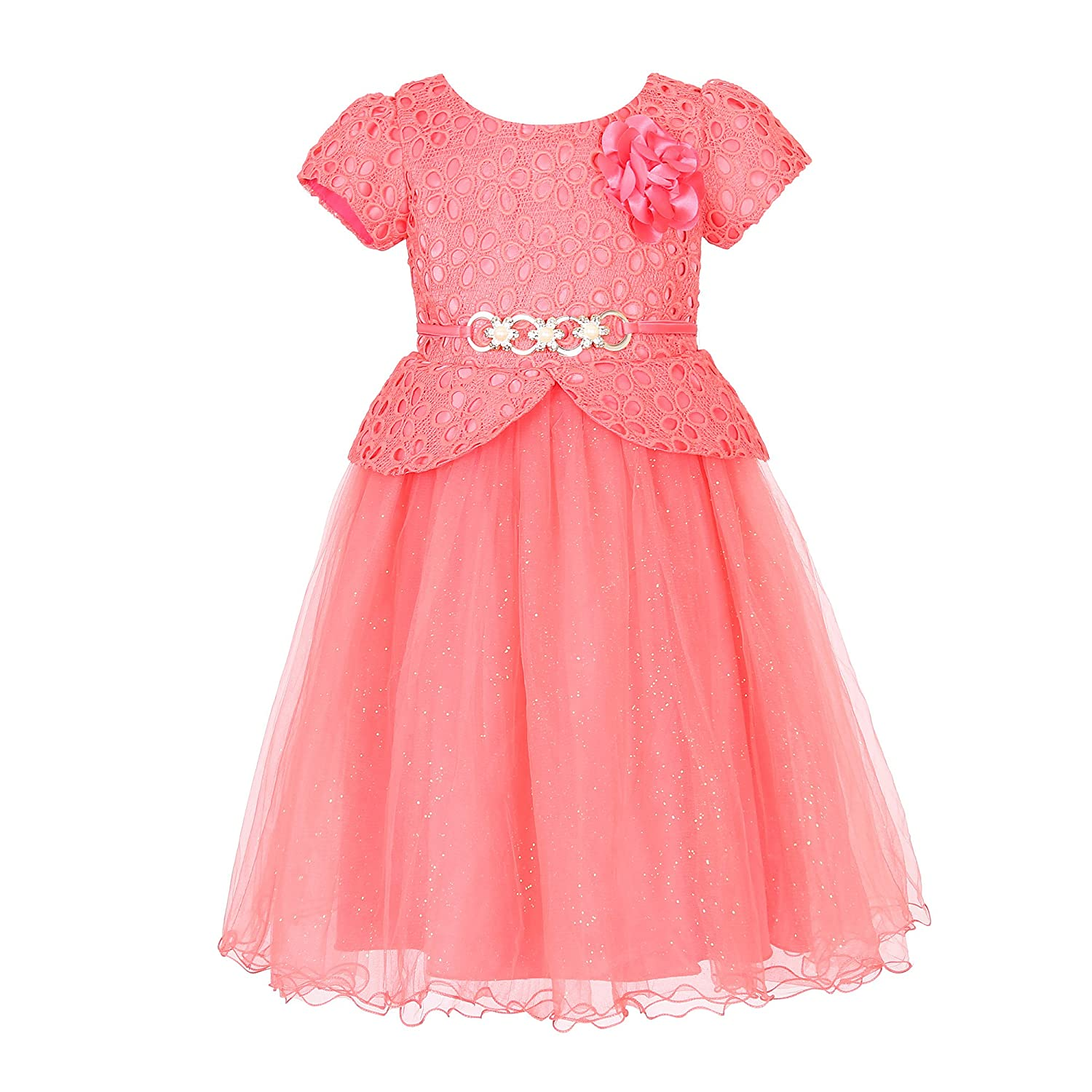 Richie House Girls' Princess Party Dress with Belt Size 3-8Y RH2598