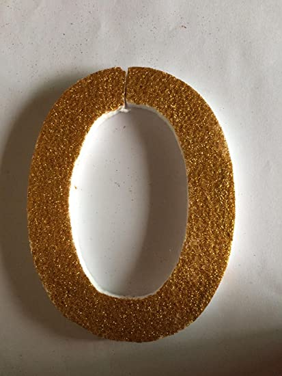 buy glitter alphabet o thermocol base online at low prices in india
