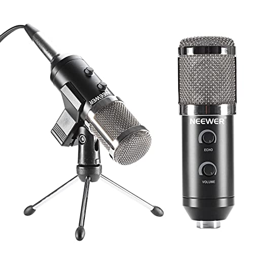 23 opinioni per Neewer® Nero NW-300E Microfono USB a Condensatore Professionale con Morsetto a