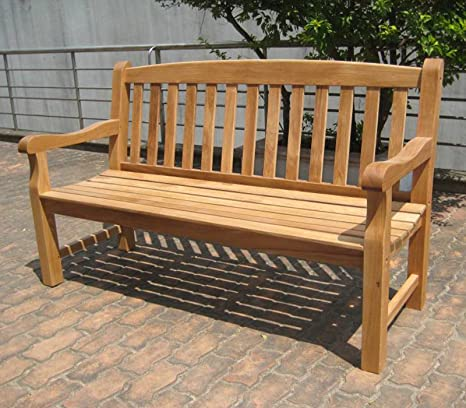 Astonishing Simply Wood Solid Oak Garden Bench 5Ft 3 Seater Sale Creativecarmelina Interior Chair Design Creativecarmelinacom