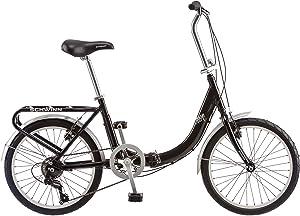 Schwinn Loop Adult Folding Bike, 20-inch Wheels, Rear Carry Rack, Black