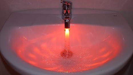 Rubinetto Led Come Funziona.Luce Al Led Ad Acqua Per Rubinetto Idraulico Miscelatore Sensore
