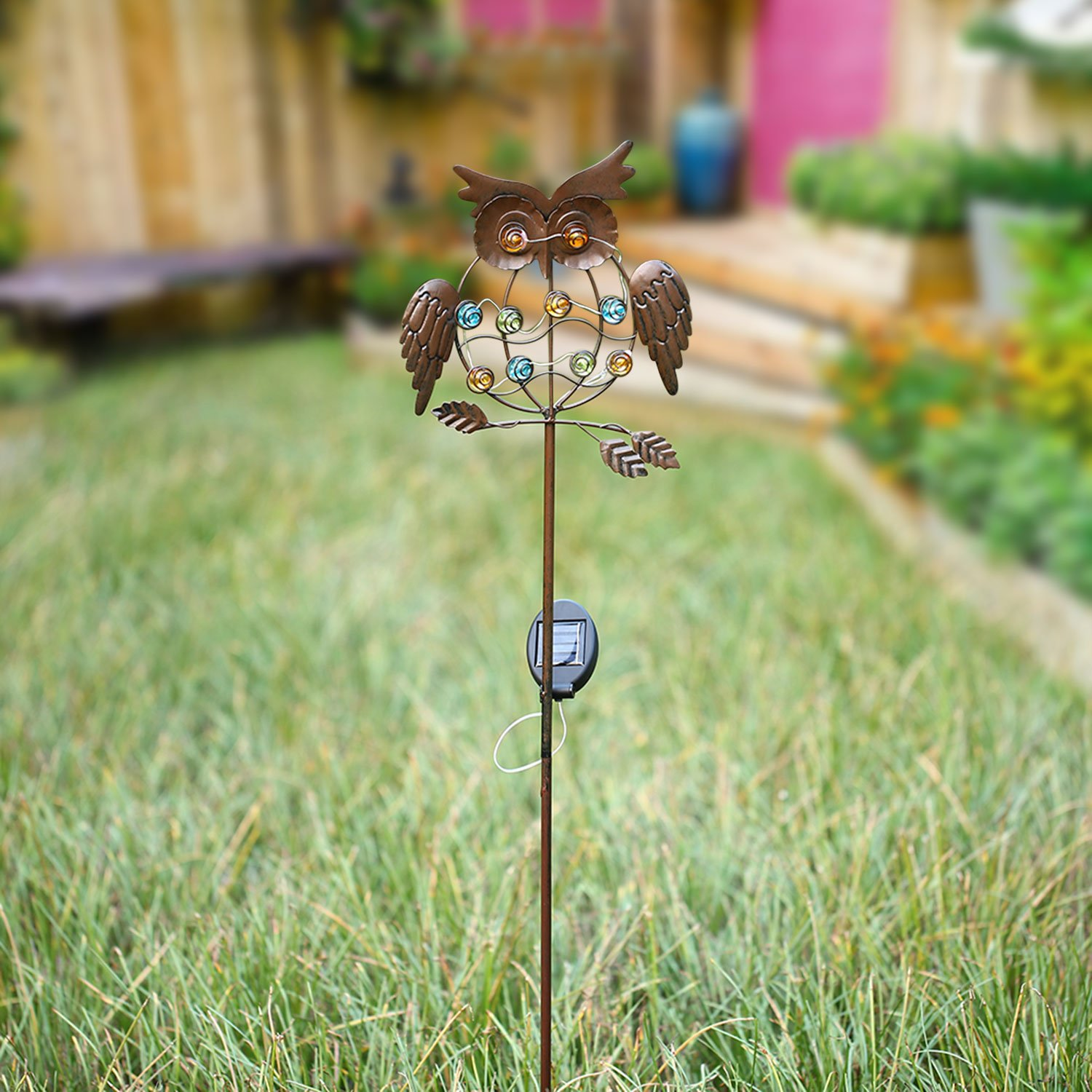 TAKEME Garden Solar Lights Outdoor,Solar Powered Stake Lights ...
