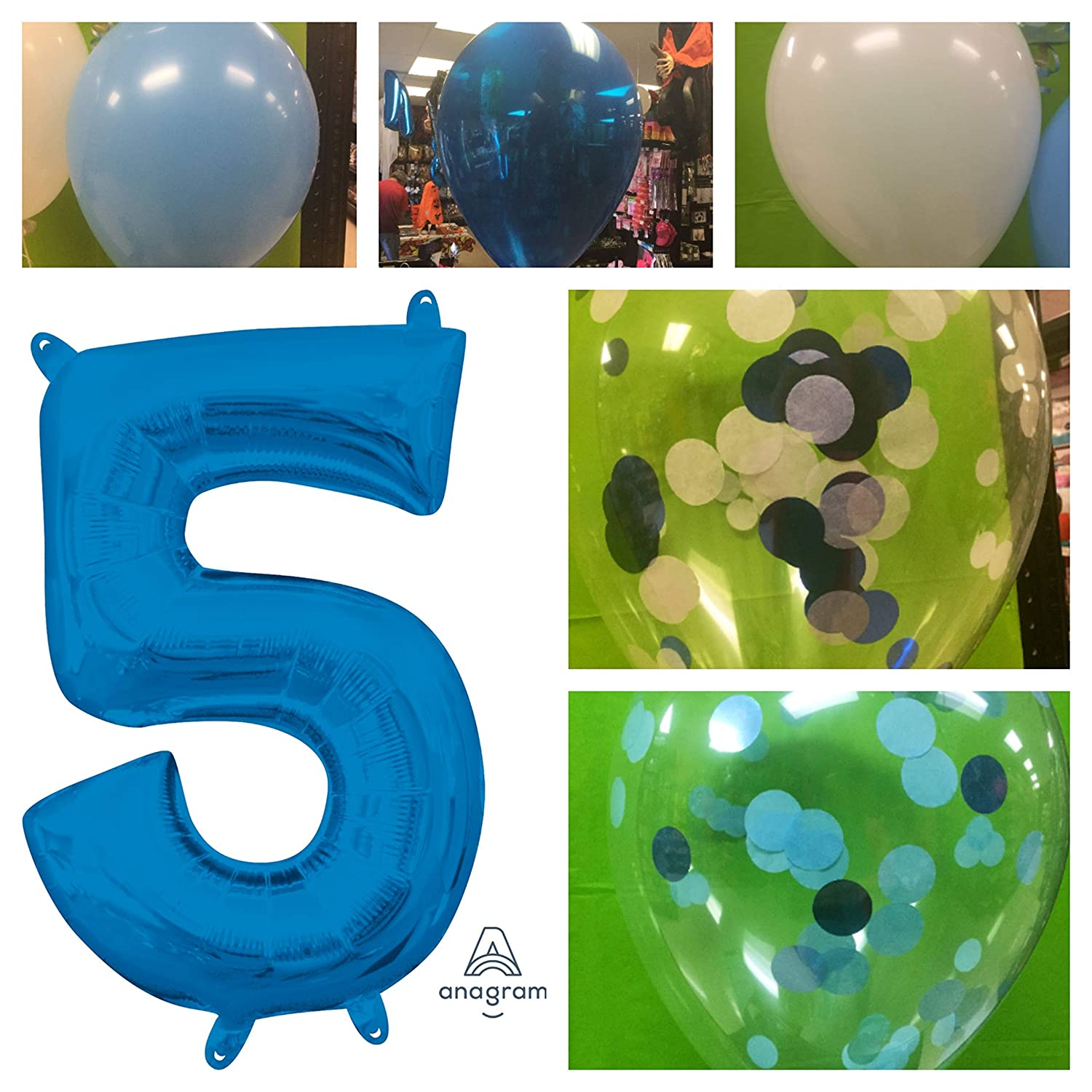 """Black Number 5 34/"""" Balloon Birthday Party Decorations 5th #5"""