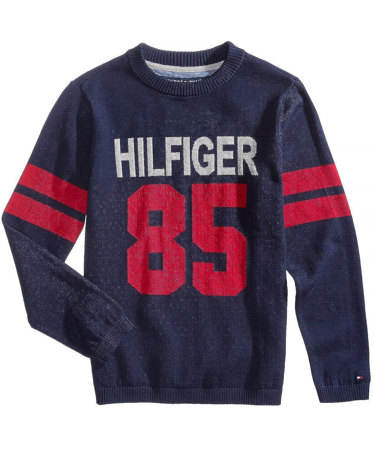 Tommy Hilfiger Boys Logo Intarsia Sweater