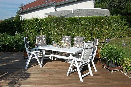 Premium Nardi Muebles de Jardín Set Aruba 13. Color Blanco – m918 de HL gris de flores, color marrón: Amazon.es: Hogar