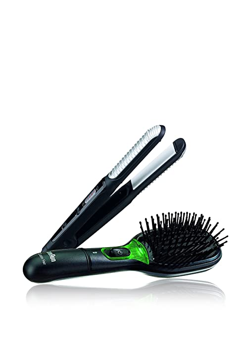 Braun Pack Cepillo de Pelo Braun Satin Brush + Plancha de Pelo Satin Hair ESW