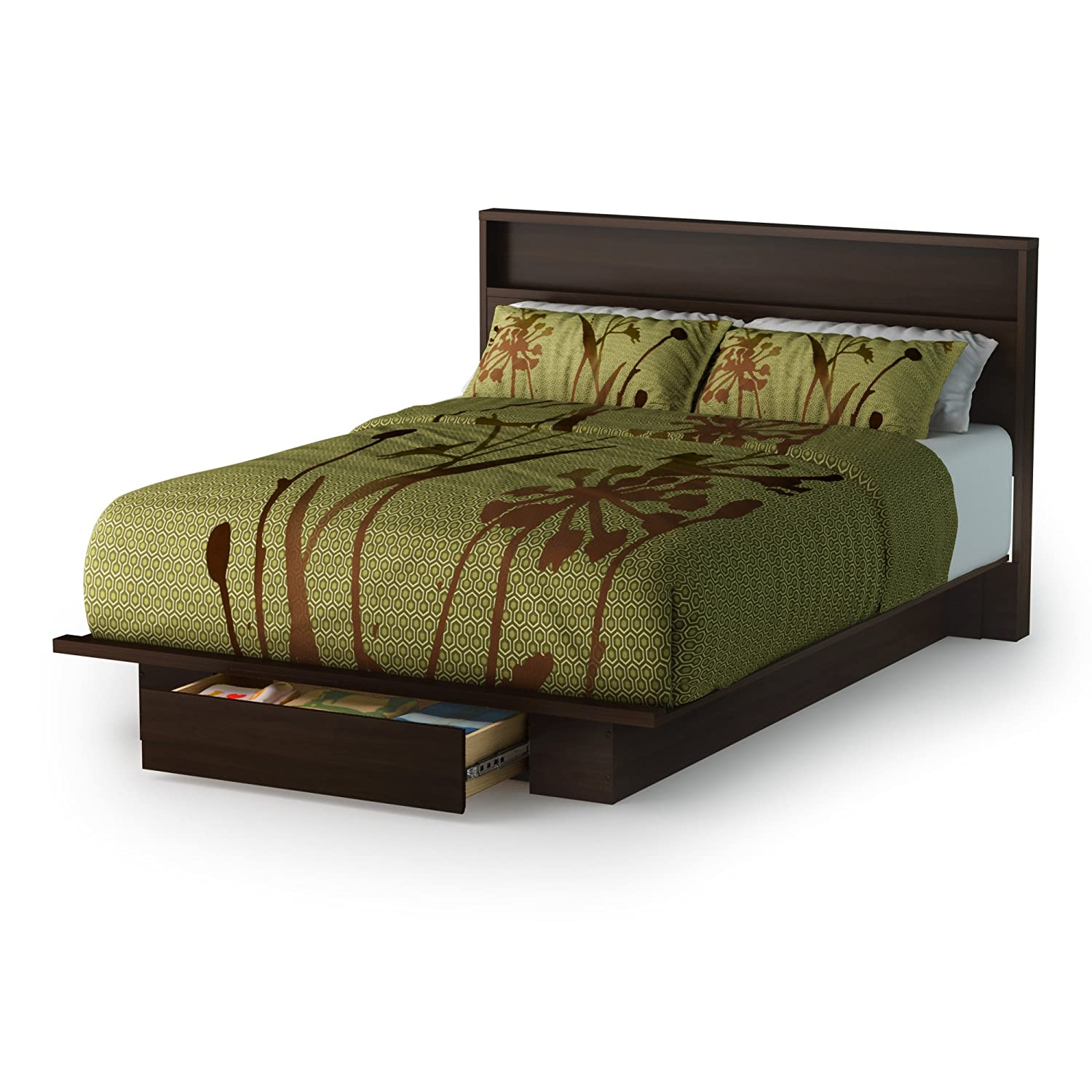 Amazon South Shore Trinity Collection Platform Bed with Drawer